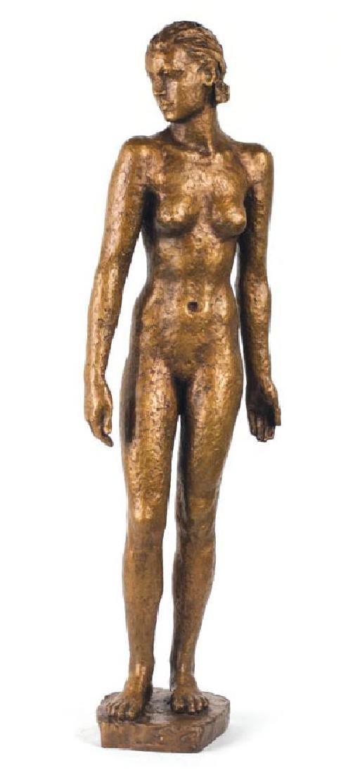 Georg Kolbe, 1877-1947, Treading girl, bronze sculpture