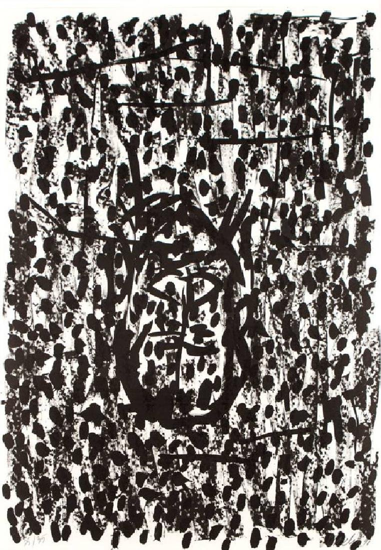 Georg Baselitz, born 1938, offset-lithograph on