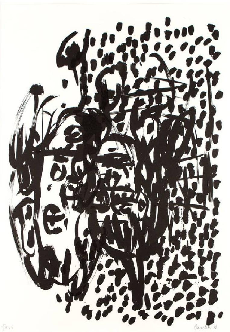 Georg Baselitz, born 1938, offset-lithograph on