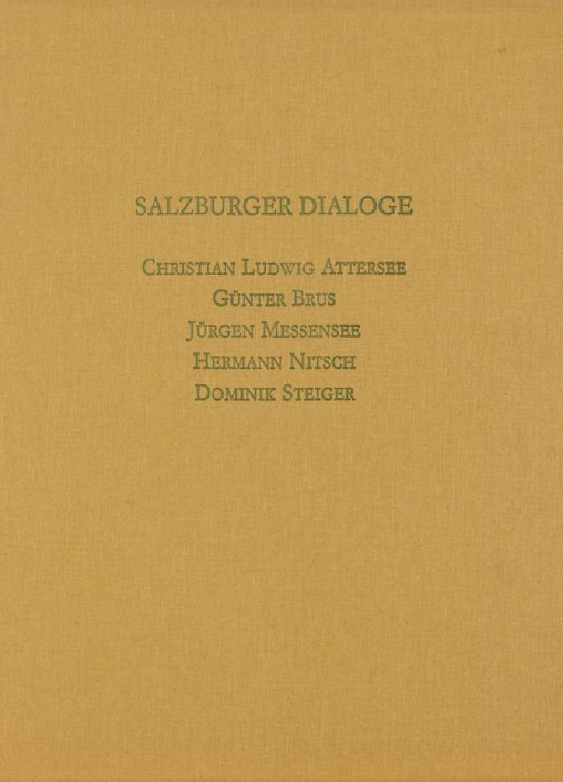 Salzburger Dialoge, wallet with 5 color etchings by