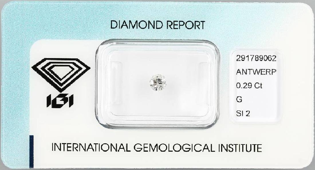 Loose brilliant, 0.29 ct Top Wesselton (G)/si2