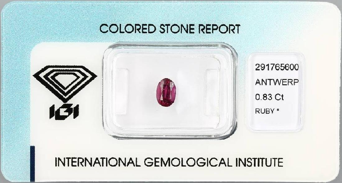 Loose ruby, 0.83 ct