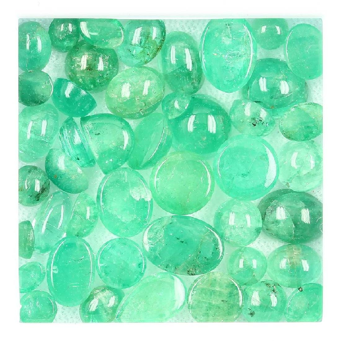 Lot loose emeralds, total approx. 34.6 ct