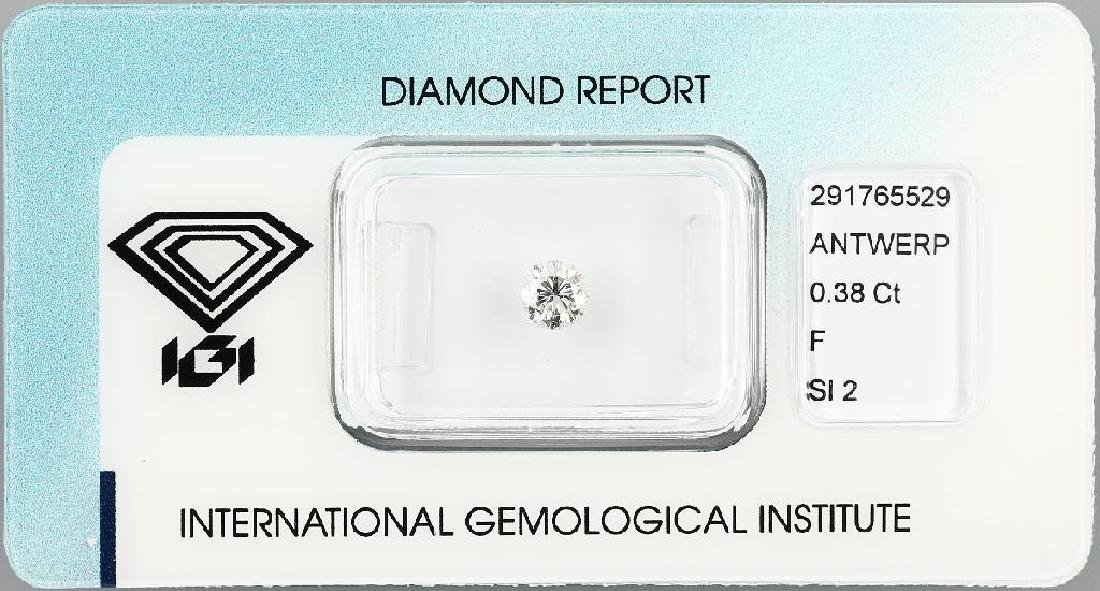 Loose brilliant, 0.38 ct Top Wesselton+ (F)/si2