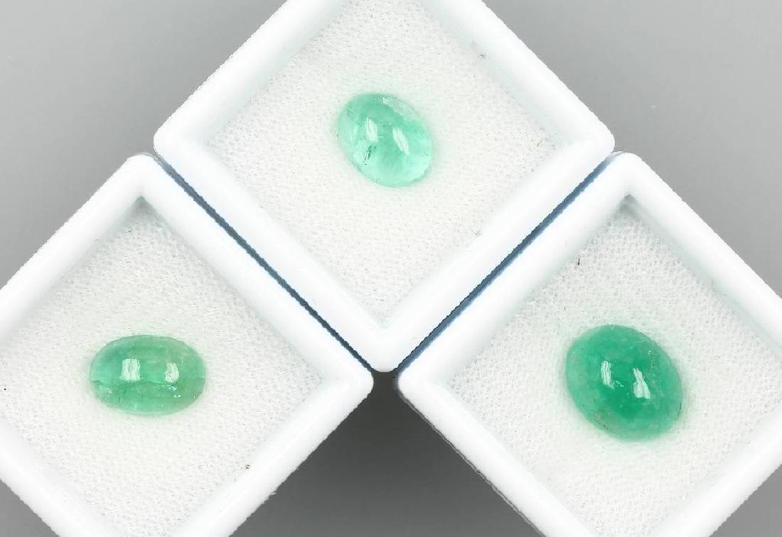 Lot 3 loose emeralds
