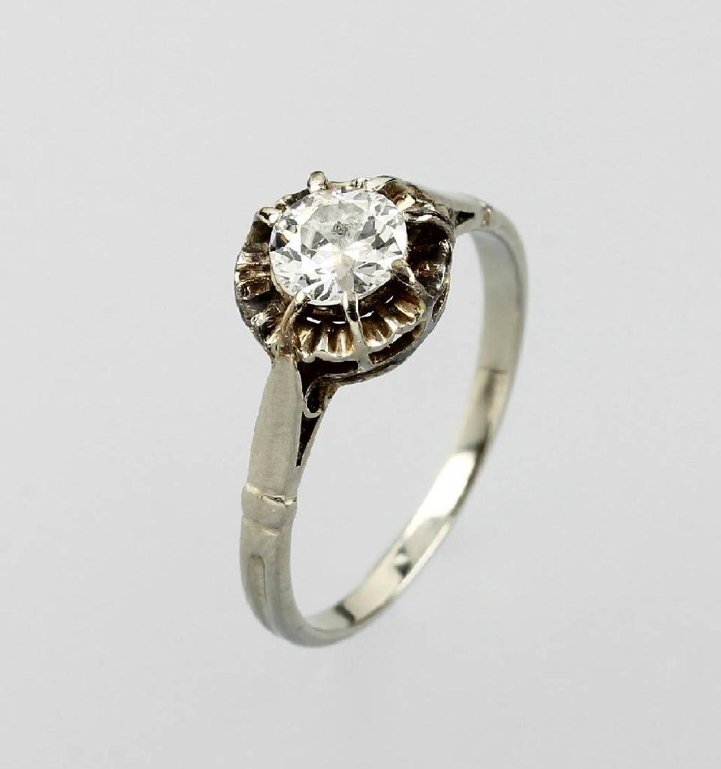 14 kt gold ring with diamond