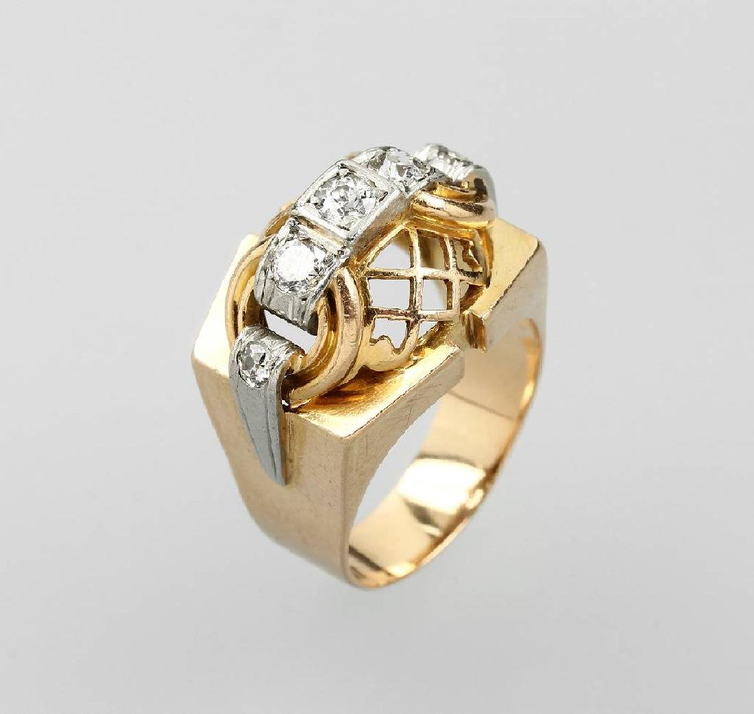 Cocktail ring with diamonds