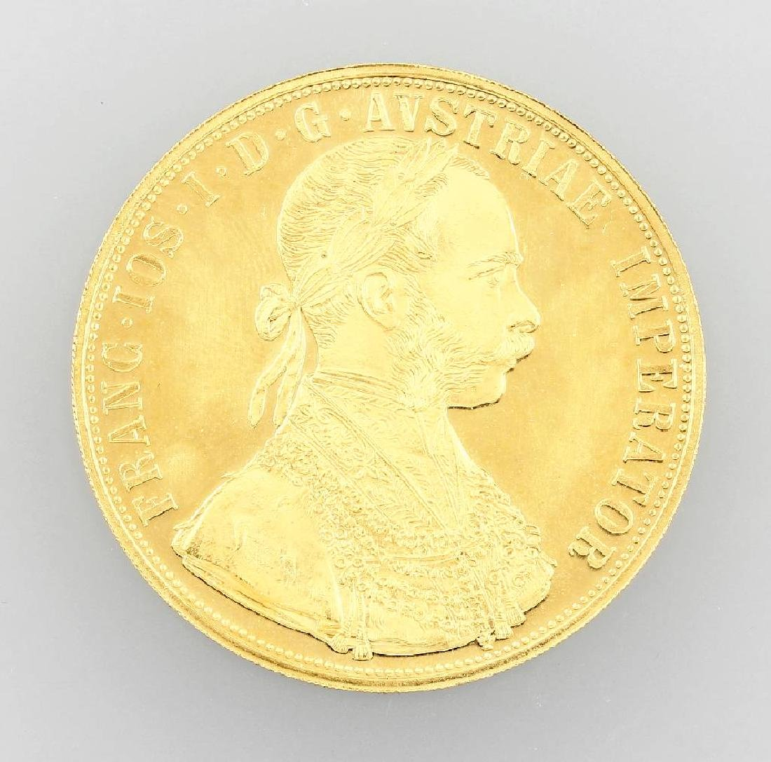 Gold coin, 4 ducats, Austria-Hungary, 1915