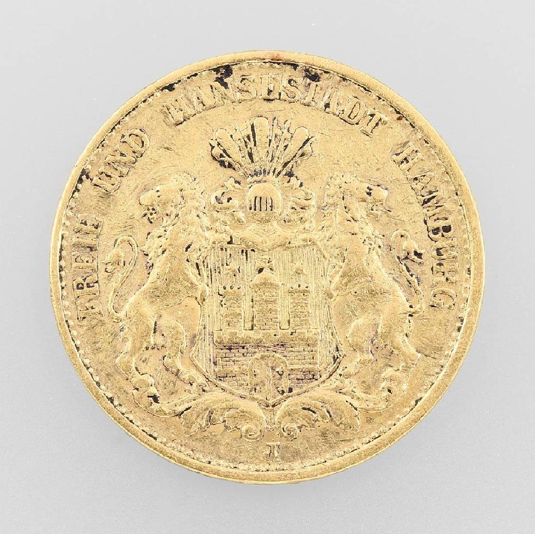 Gold coin, 20 Mark, German Reich, 1884