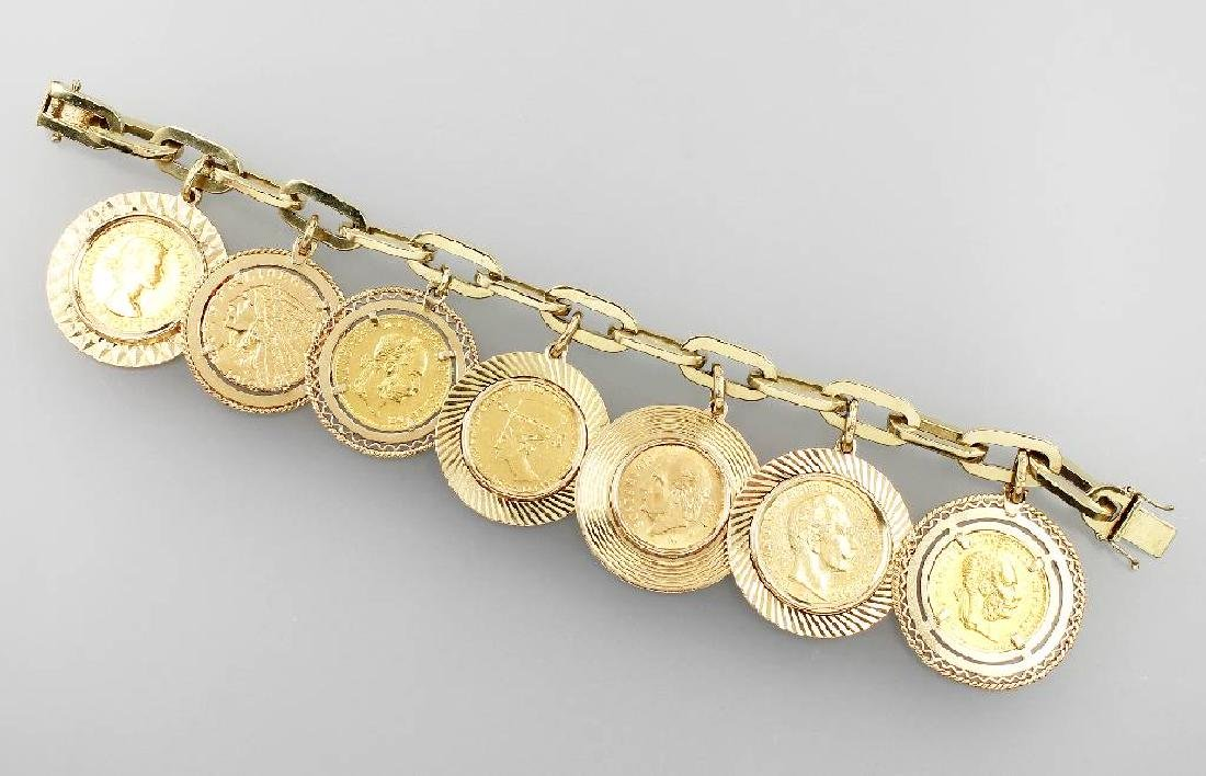 14 kt coin bracelet