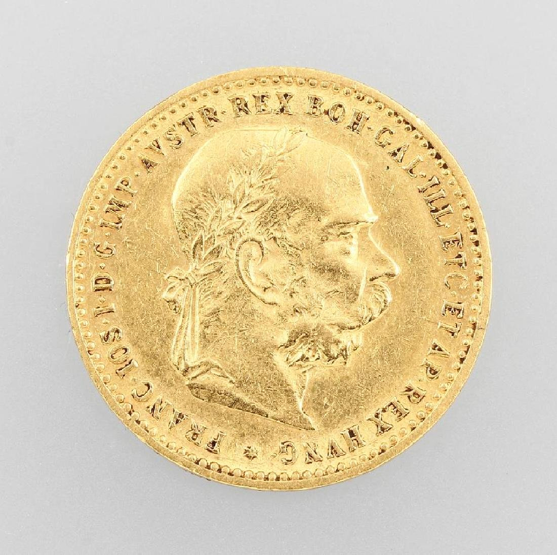Gold coin, 10 kroner, Austria-Hungary