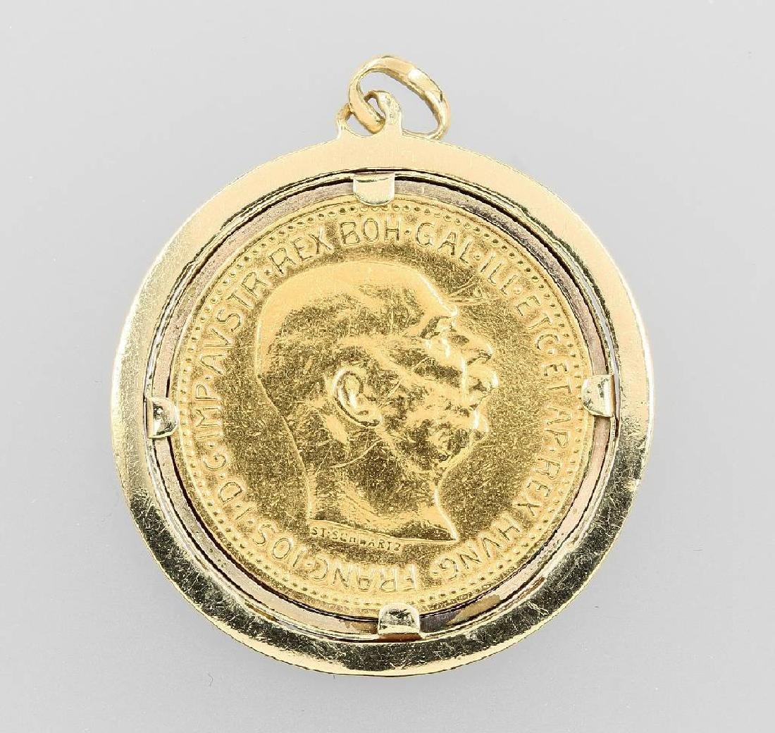 Coin pendant, 20 kroner, Austria-Hungary, 1915