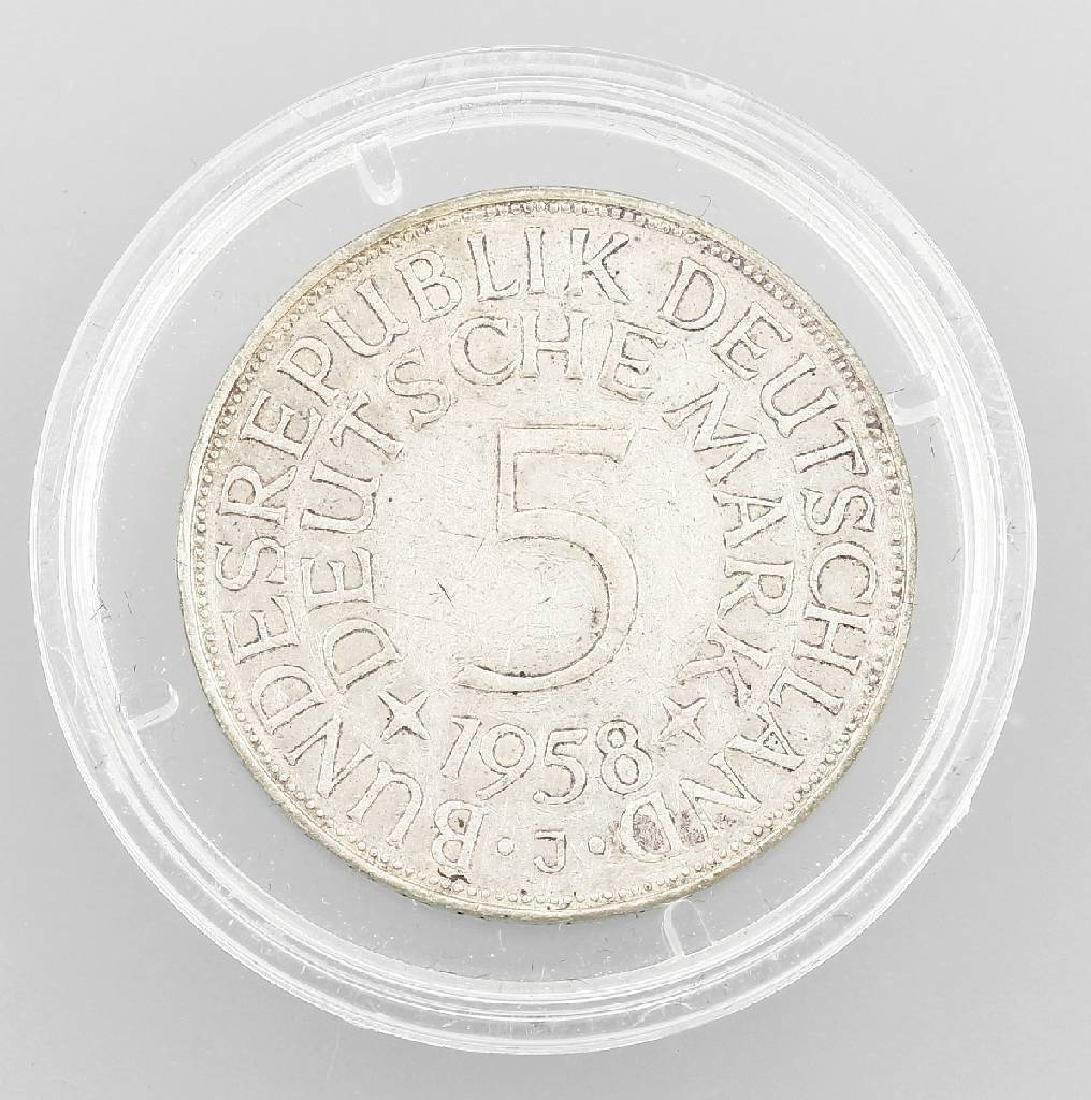 Silver coin, 5 Mark