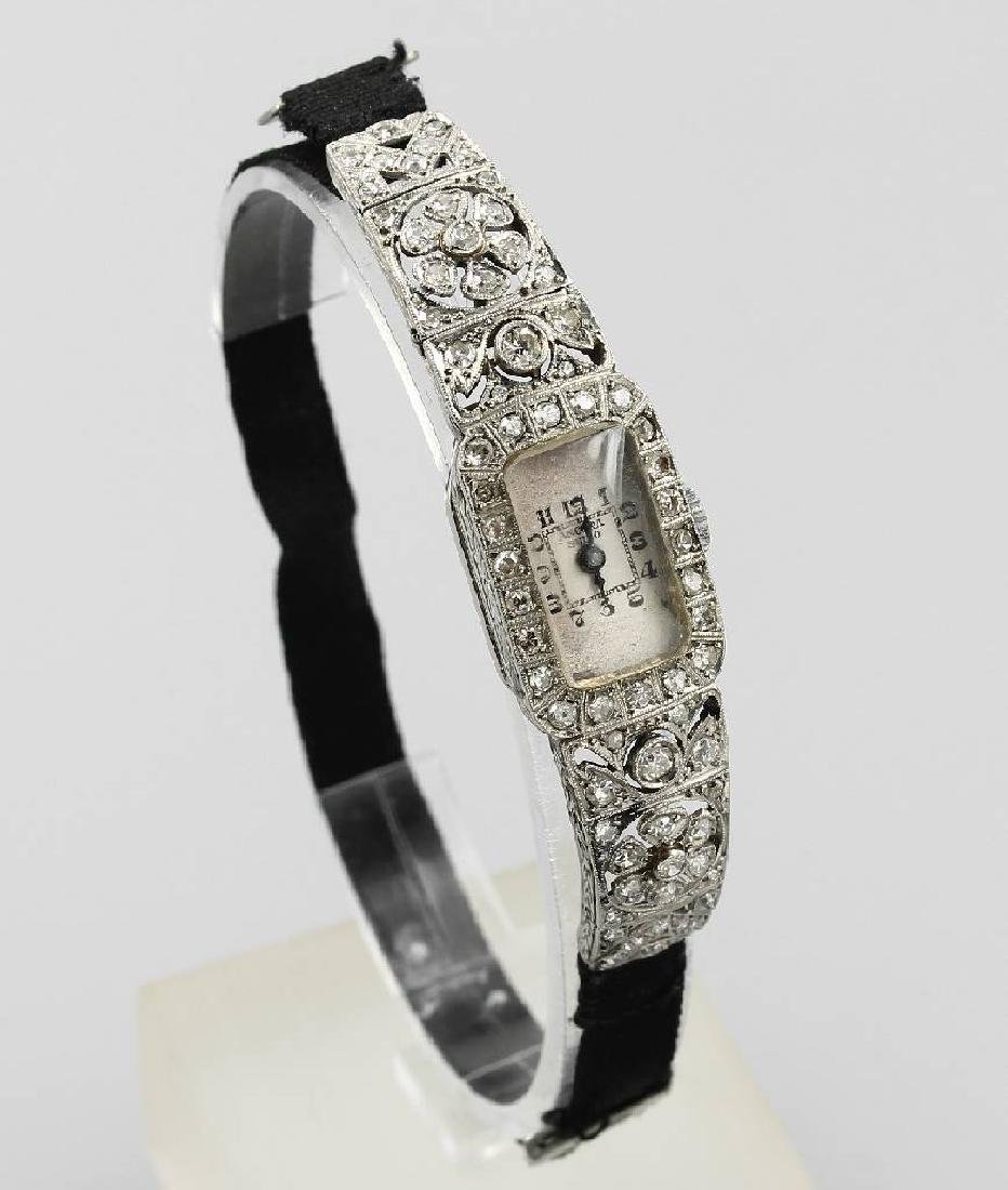 Ladies' wristwatch with diamonds, approx. 1930s