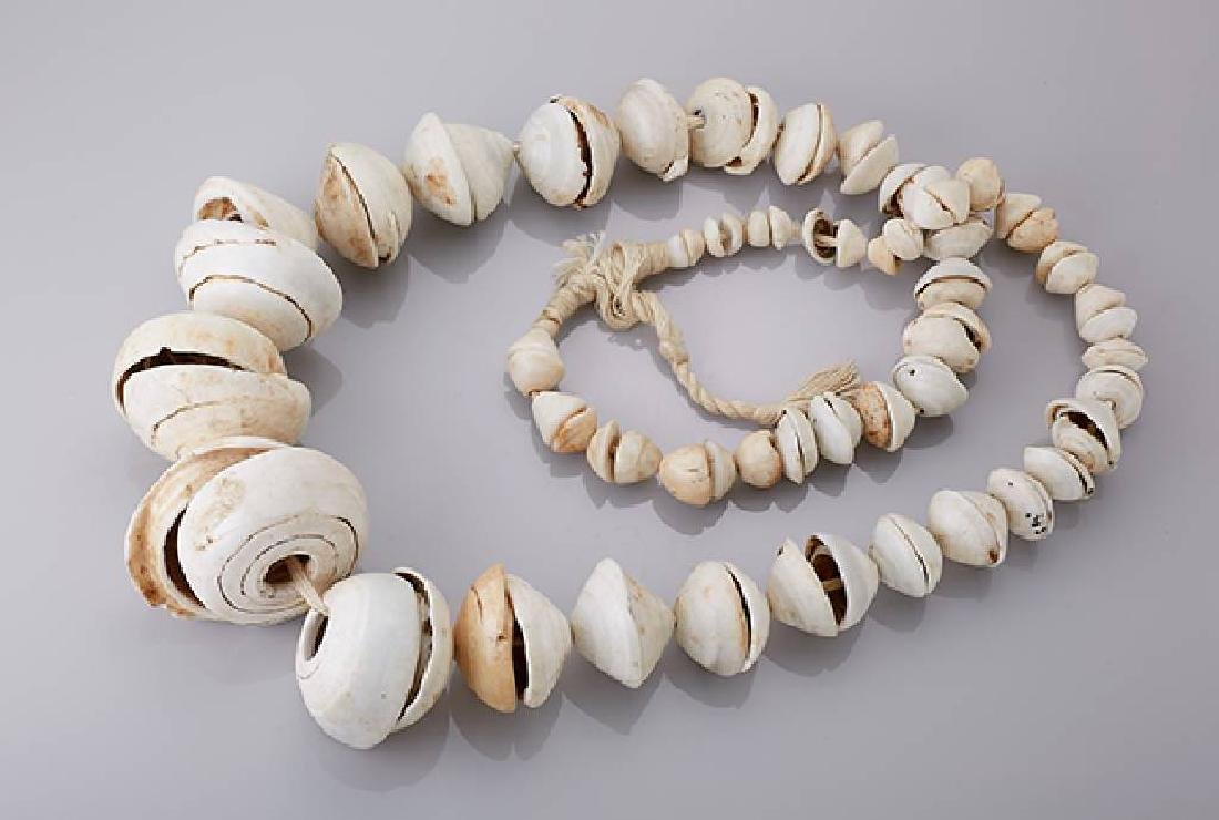 Shell necklace, Papua probably middle sepik aria