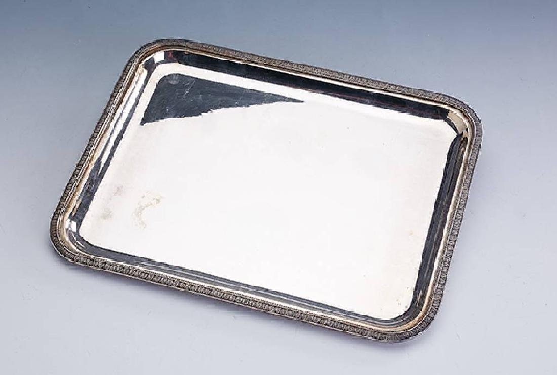 CHRISTOFLE tray, silver plated