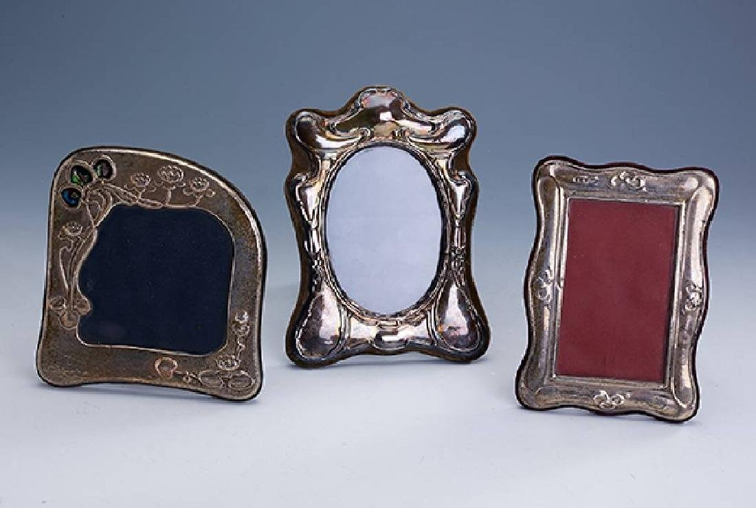Lot 3 stand-picture frames, England, silver 925
