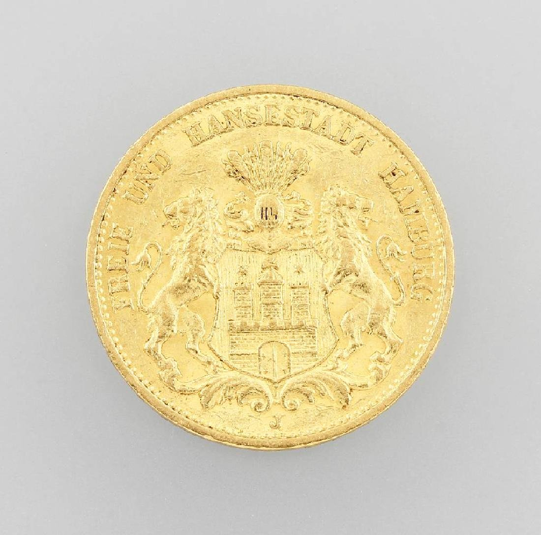 Gold coin, 20 Mark, German Reich, 1895