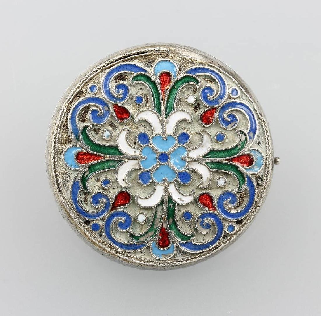 Brooch with enamel, Russia approx. 1880
