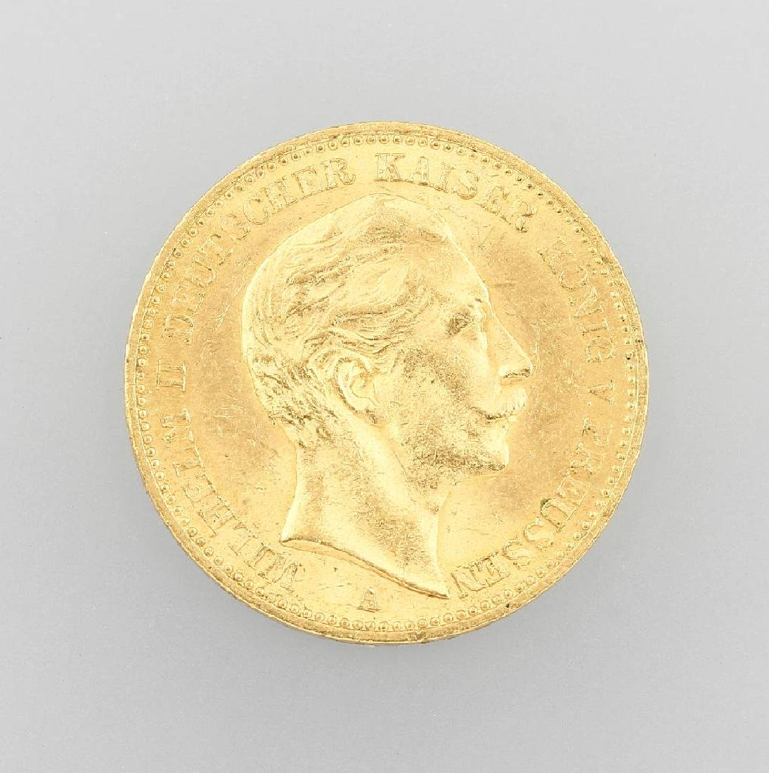 Gold coin, 20 Mark, German Reich, 1899
