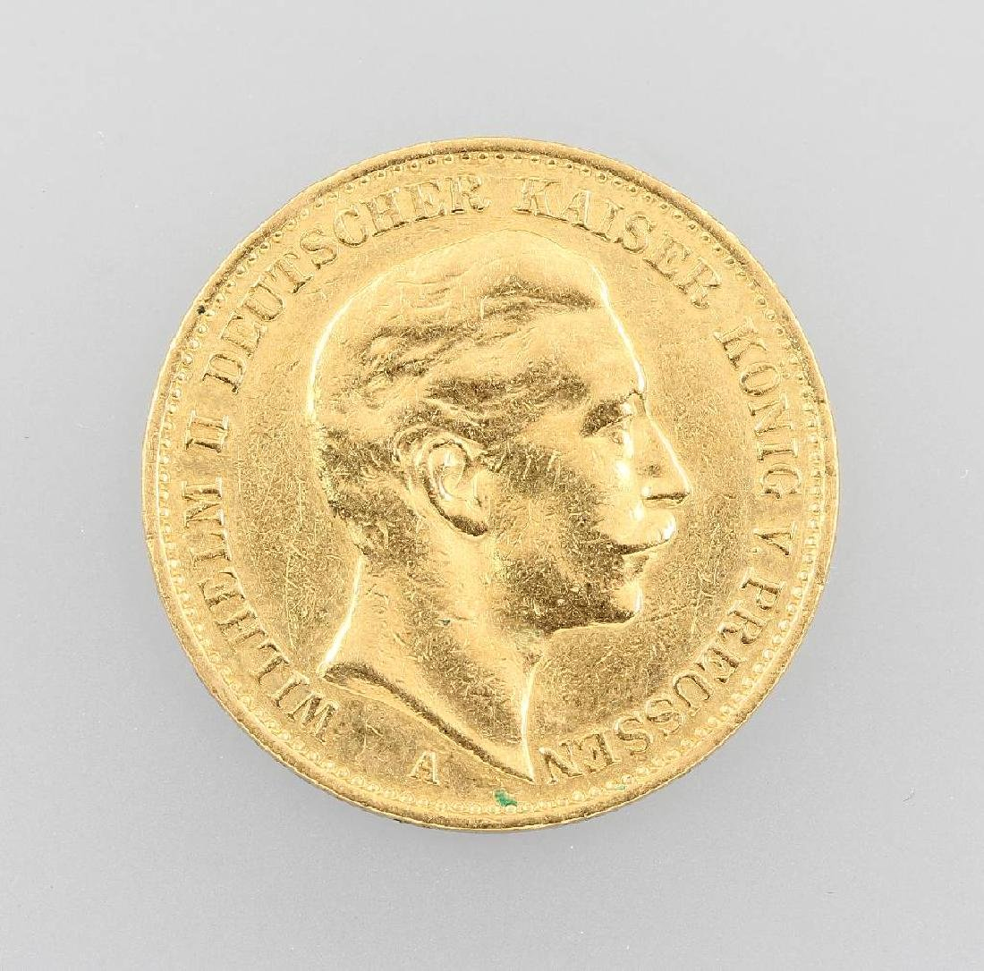Gold coin, 20 Mark, German Reich, 1912