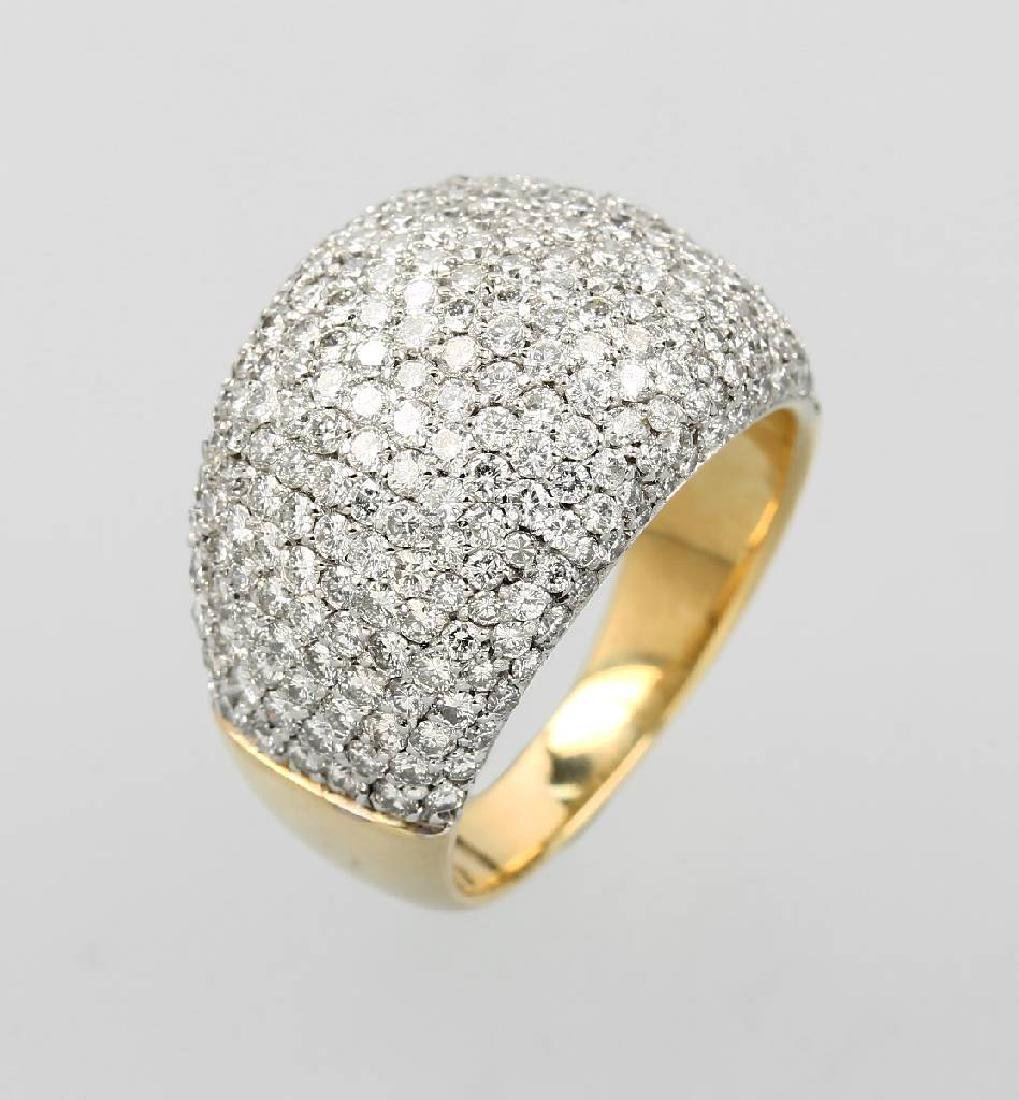 18 kt gold WEMPE-ring with brilliants