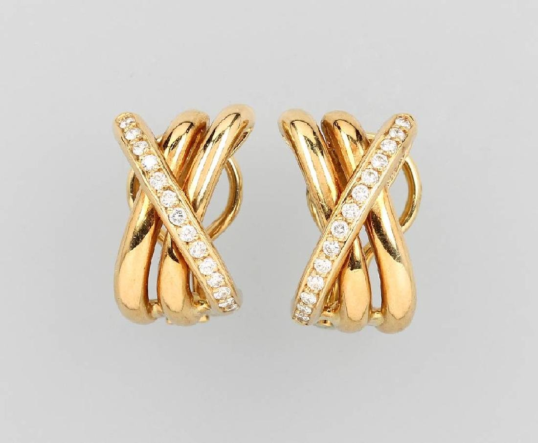 Pair of 18 kt gold earrings WEMPE by Kim with