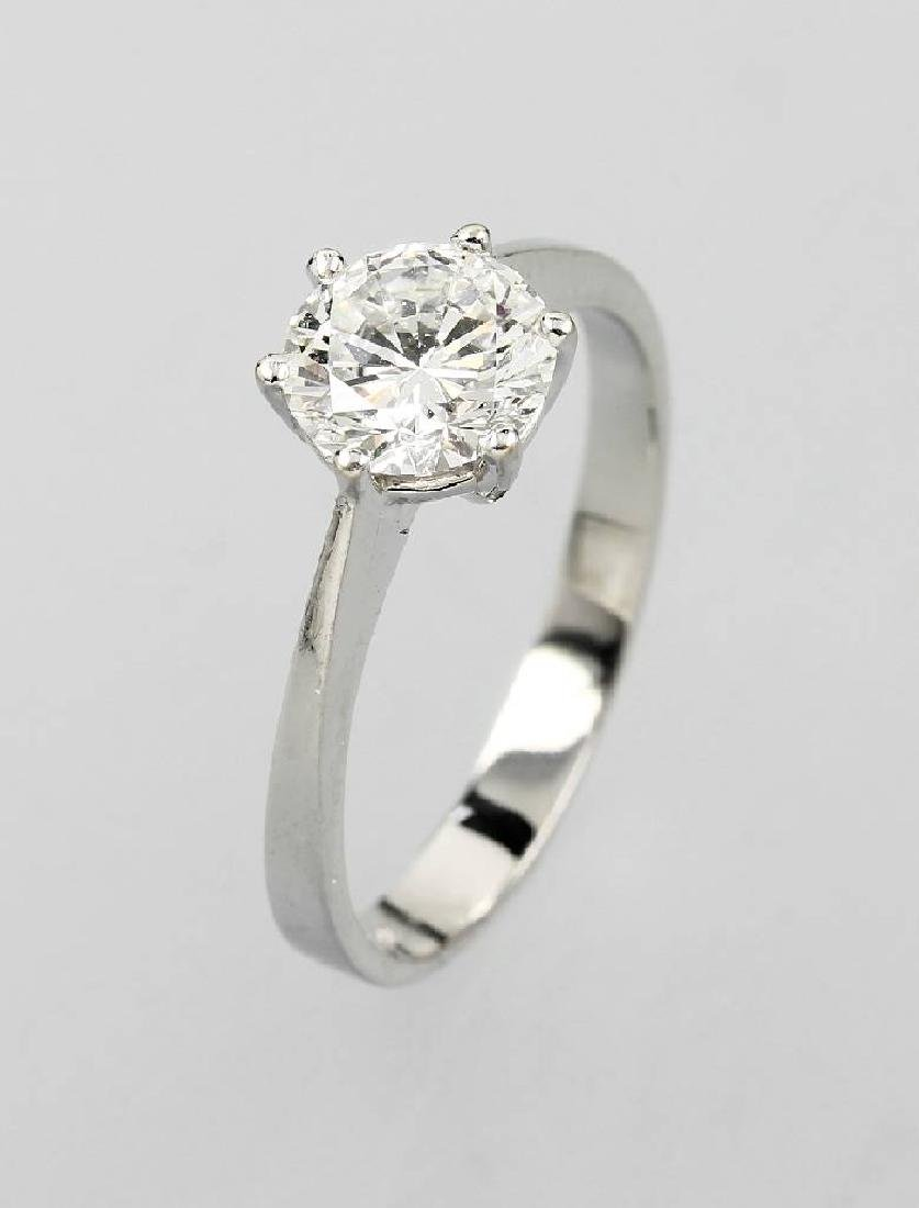 14 kt gold ring with brilliant-solitaire