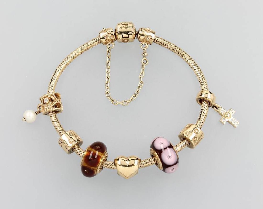 14 kt gold PANDORA bracelet
