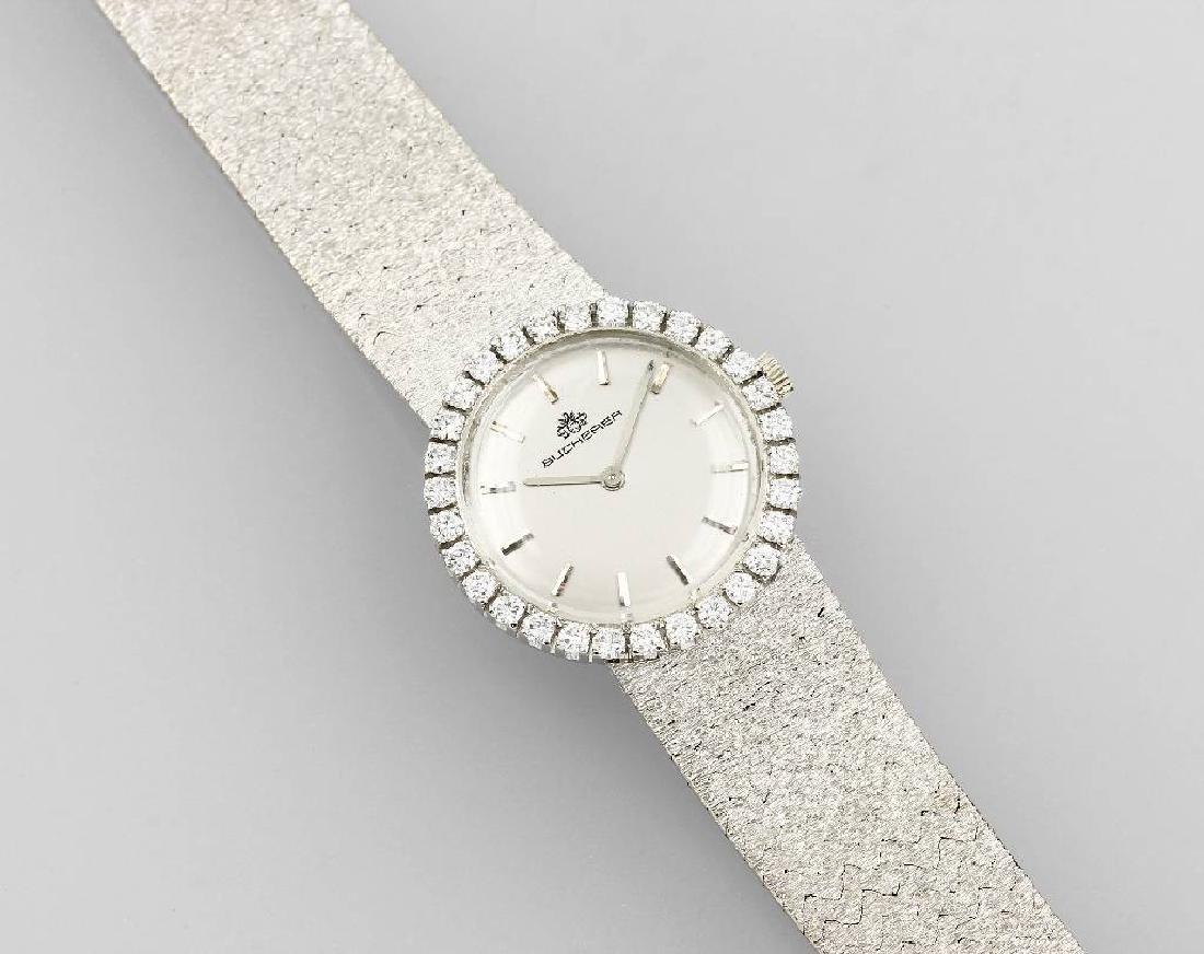 18 kt gold ladies' wristwatch BUCHERER with brilliants