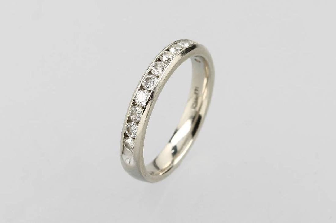 14 kt gold halfmemoryring with brilliants
