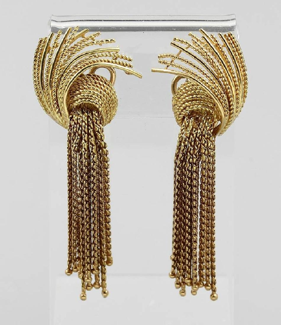 Pair of 18 kt gold earrings RENE KERN