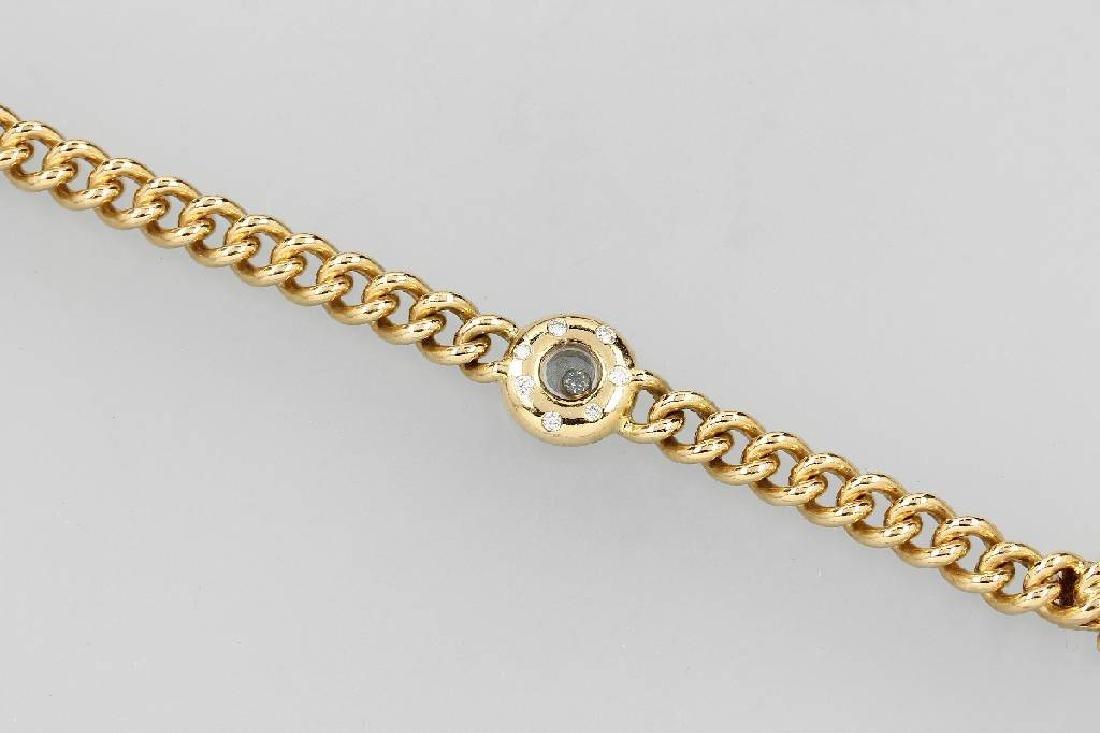 18 kt gold CHOPARD bracelet with diamonds, Happy