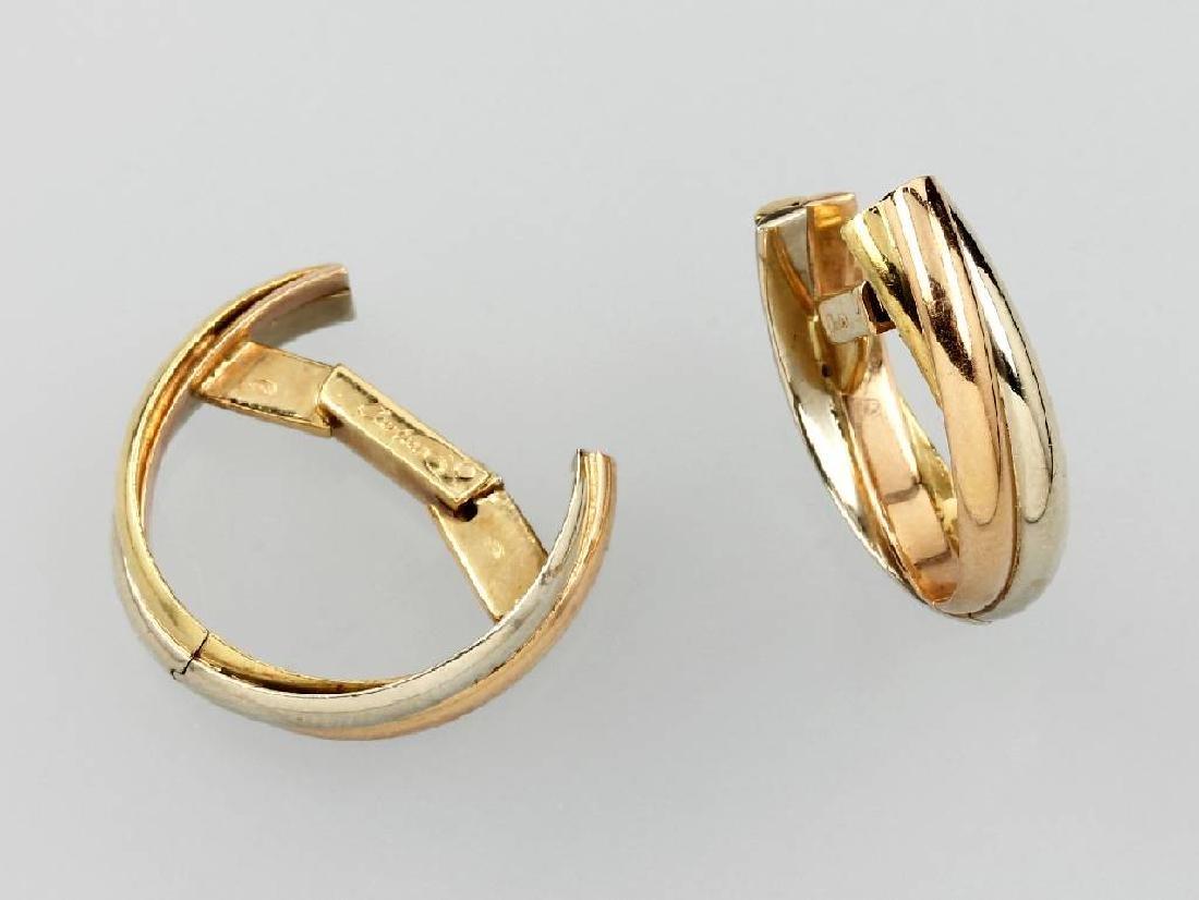 Pair of 18 kt gold CARTIER cuff links