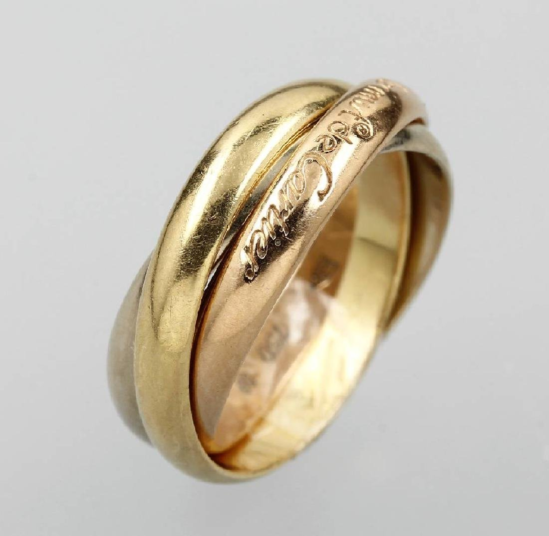 18 kt gold CARTIER Trinity ring