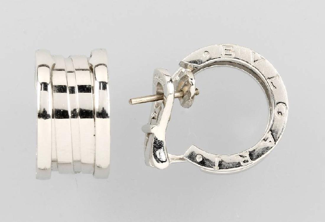 Pair of BULGARI hoop earrings
