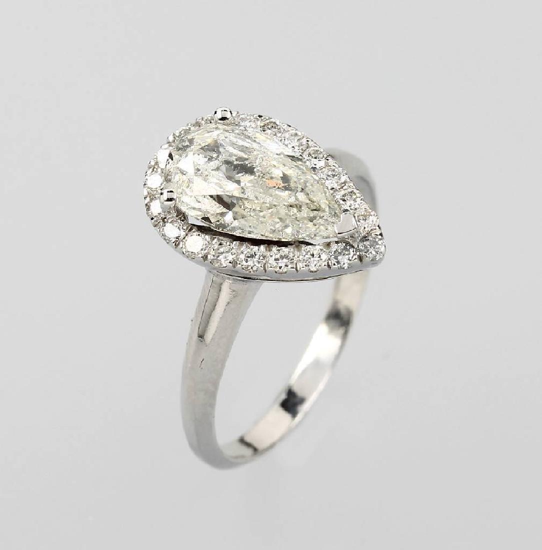 Ring with diamonds, platinum