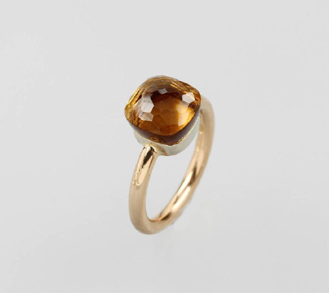 18 kt gold POMELLATO ring with citrine