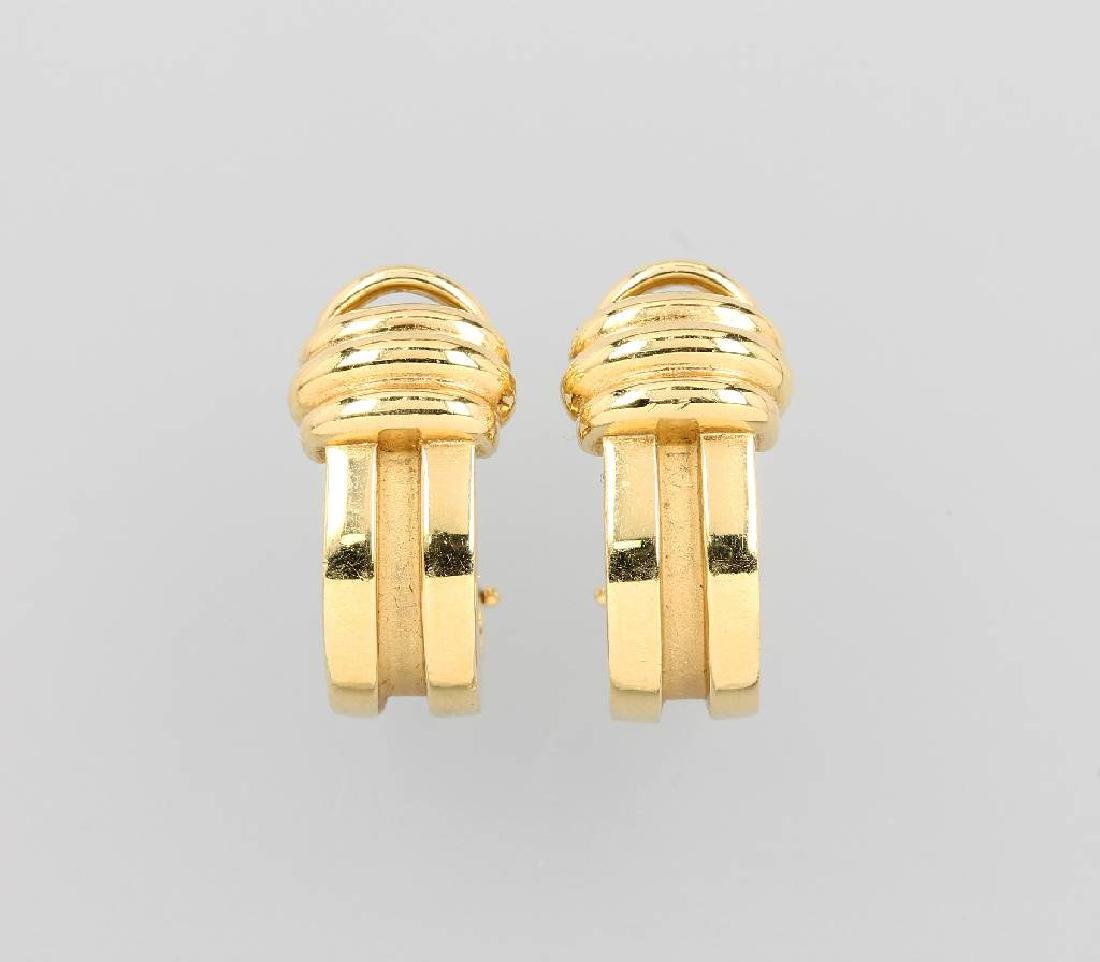 Pair of TIFFANY&CO. 18 kt gold earrings