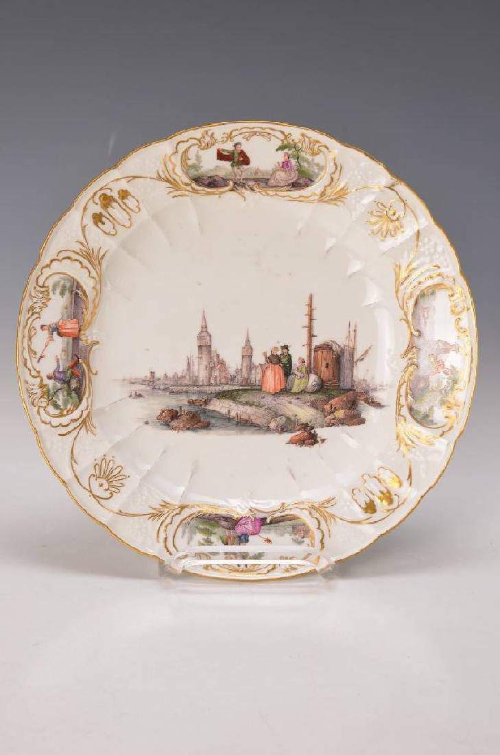pompous plate, Meissen