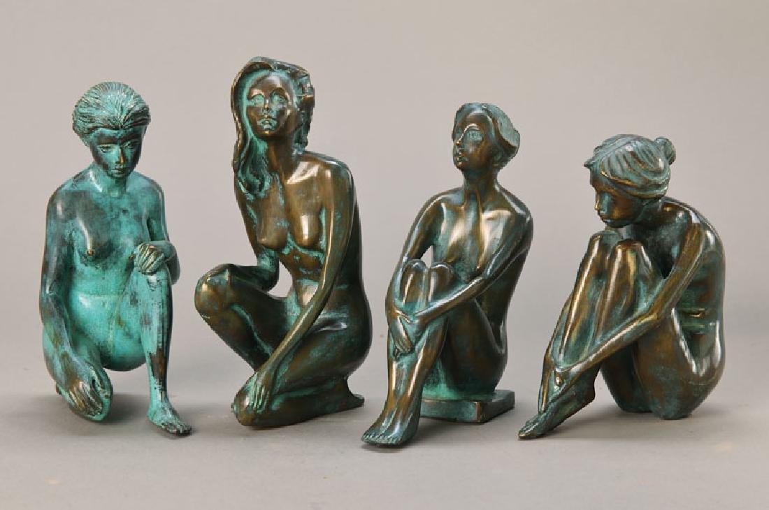 4 Bronze sculptures