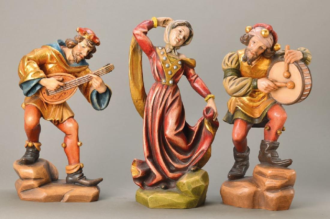 three Morris dancers