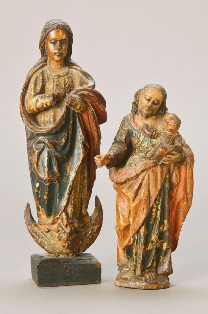 sculptures of saints
