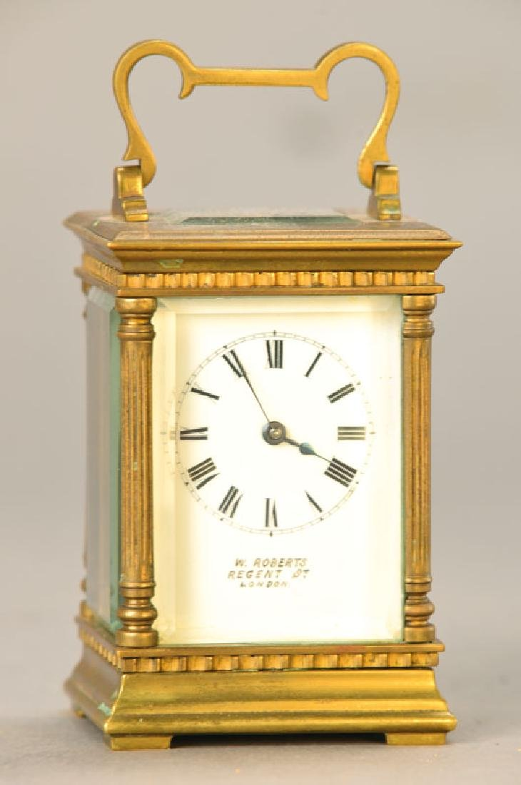 Small traveling clock