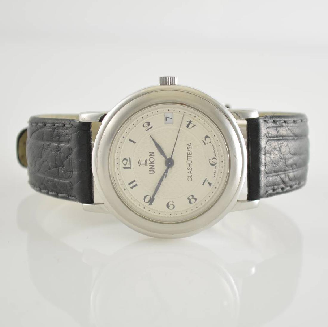 UNION GLASHUTTE gents wristwatch in steel