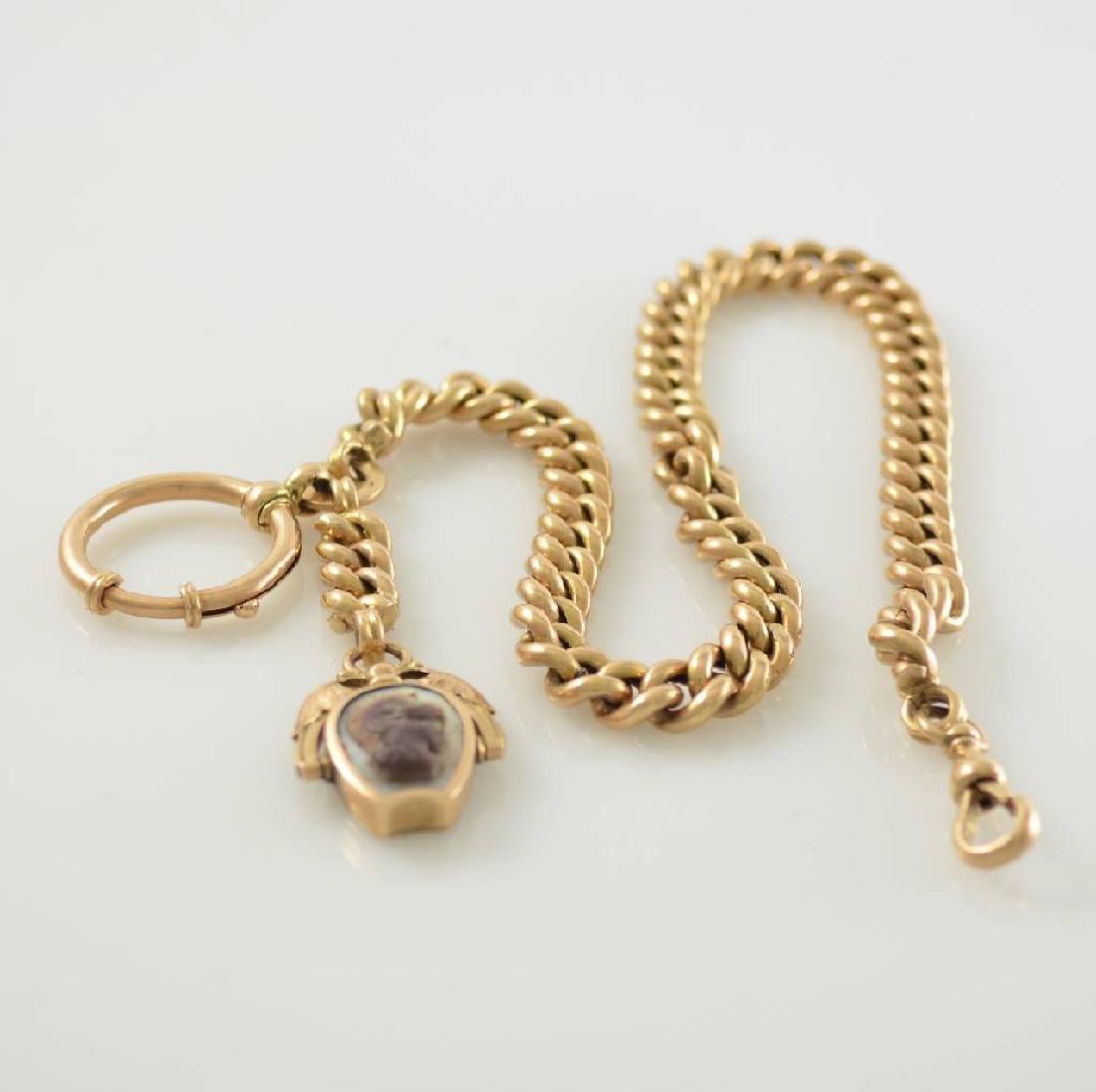 14k pink gold pocket-watch chain around 1890