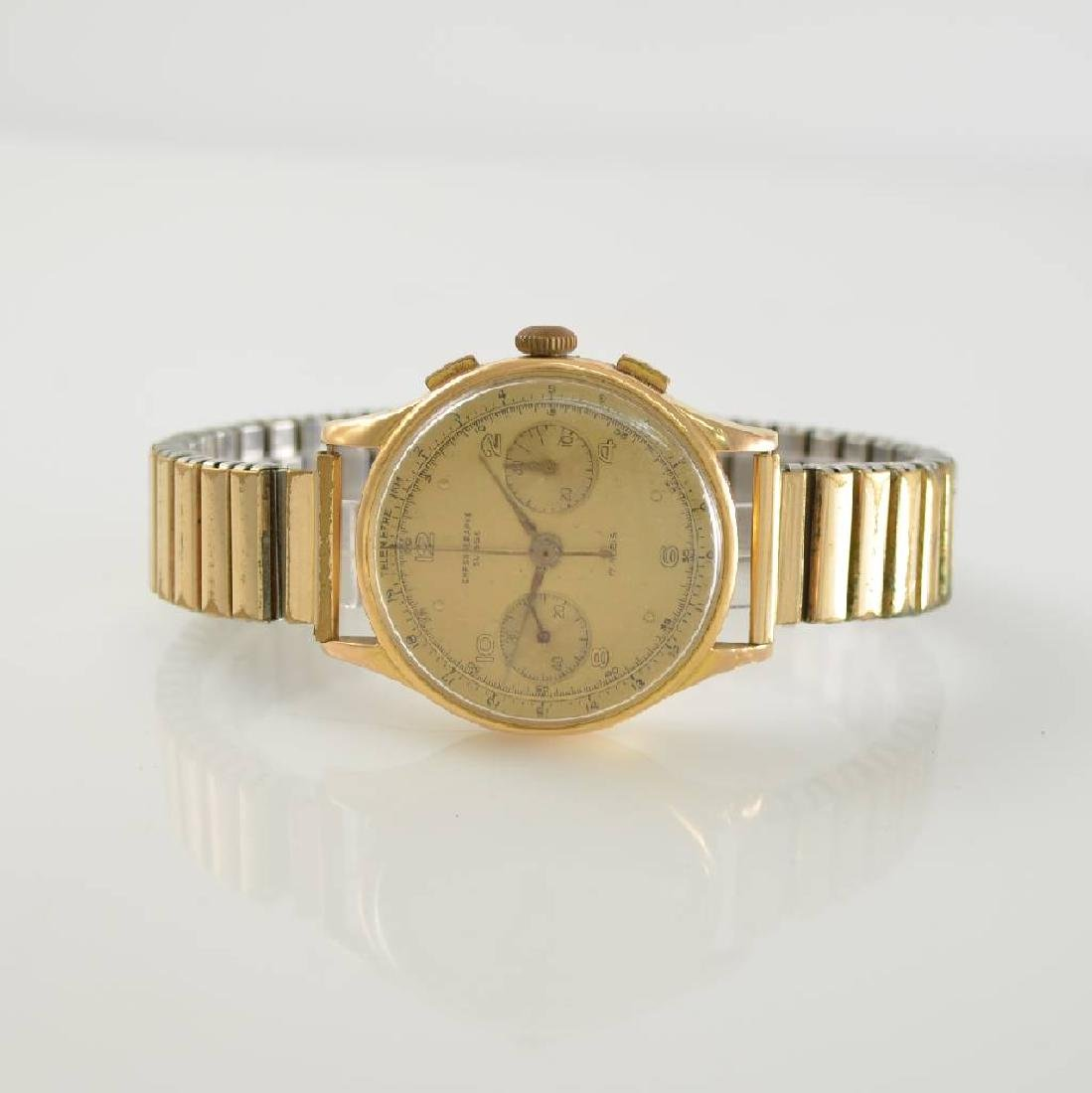 CHRONOGRAPHE SUISSE 18k pink gold gents wristwatch
