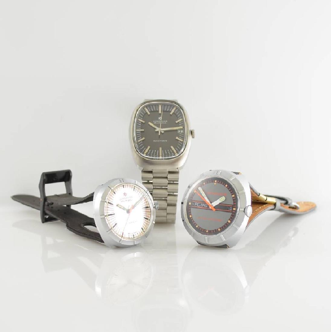 Set of 3 JUNGHANS unworn gents wristwatches