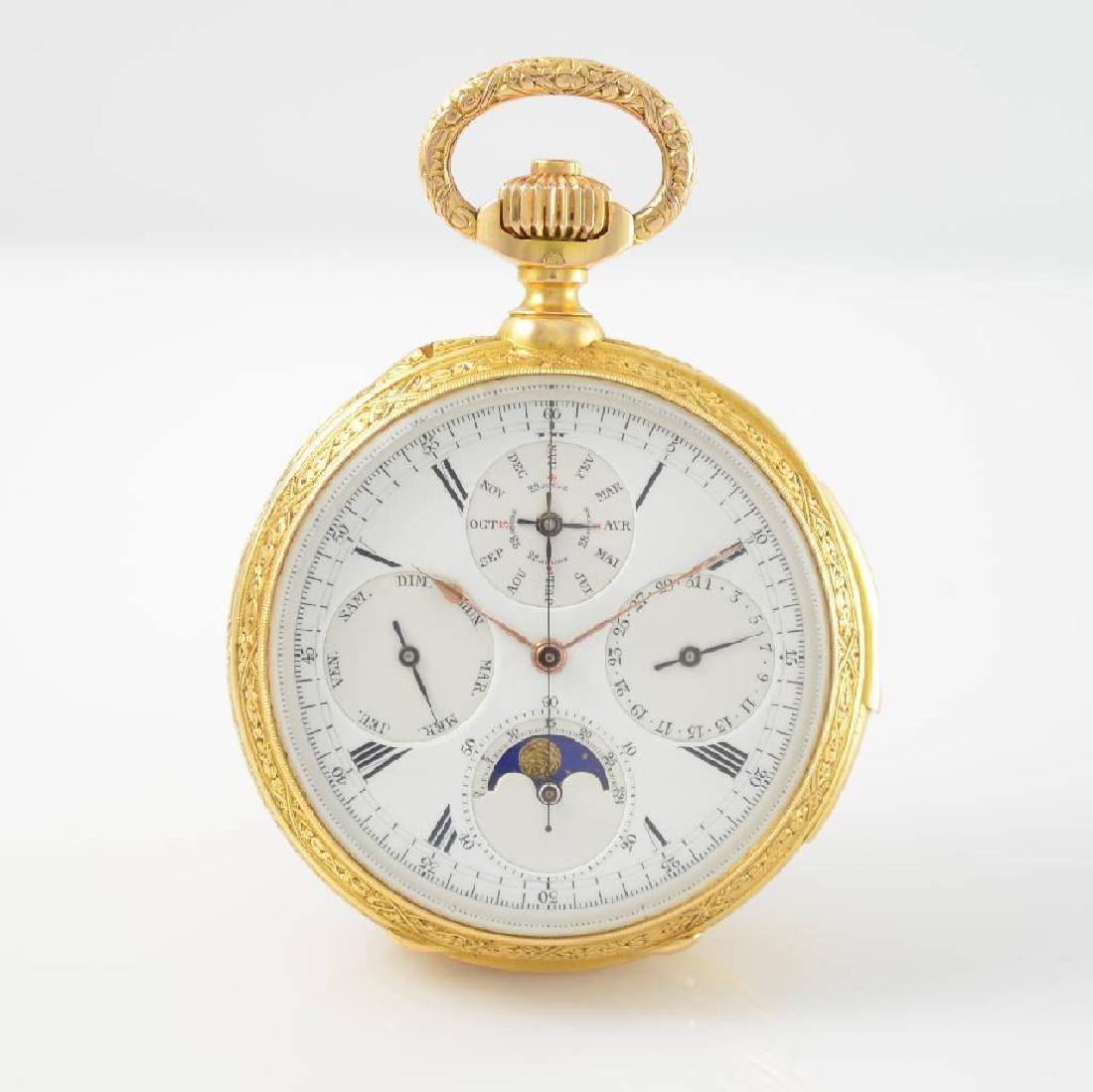 LOUIS AUDEMARS attributed unusual enamel pocket watch