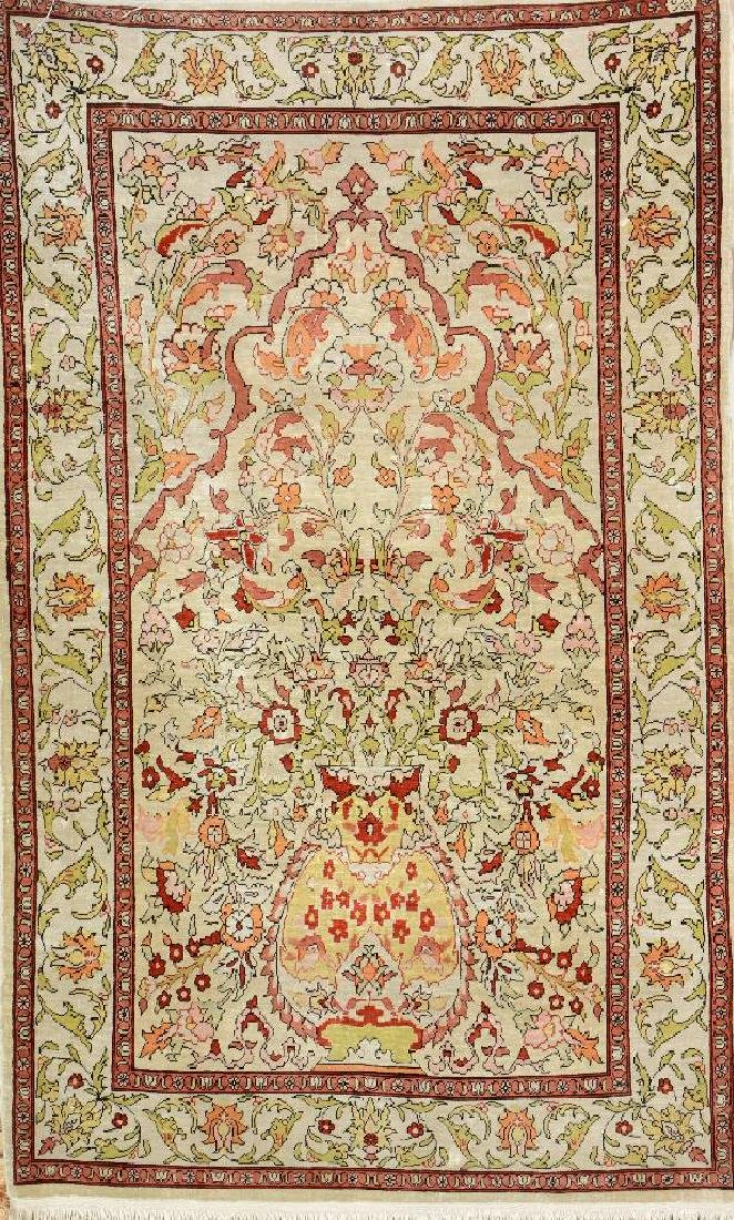 Fine Silk Hereke Rug (Signed),